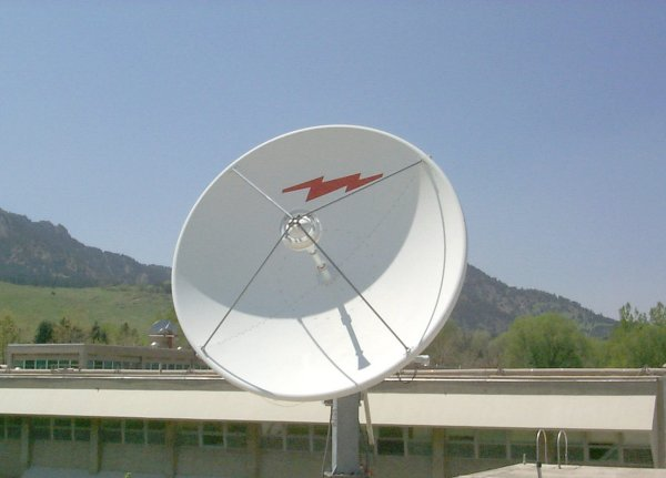 Photograph of Two-Way Satellite Antenna